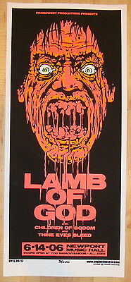 2006 Lamb of God - Columbus Silkscreen Concert Poster S/N by Martin