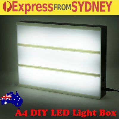 A4 Display Sign Board LED Cinematic Light Box 78 letters Wedding As Seen On TV R