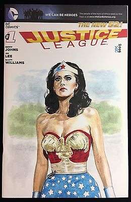 Wonder Woman / Linda Carter Styled Veronica O'connell Voc 1/1 Sketch Comic Cover