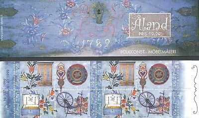 Aland Finland 1999 MNH Complete Booklet - Folk Art - Furniture Painting