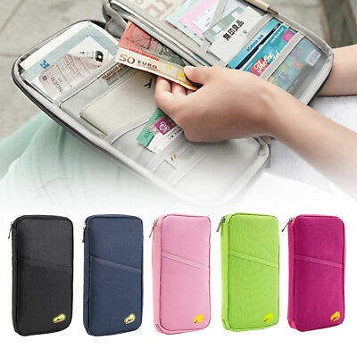 Travel Wallet Full Colour Zipped Bag Document Organiser Passport Tickets Holder