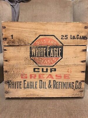 White Eagle Oil & Refining Co Cup Grease Wooden Shippen Crate