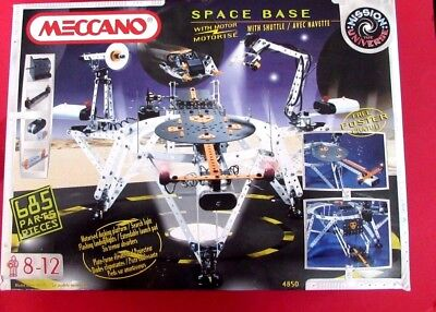 Meccano Space  Base. Used 0nce only - Early 1980's set. With lights and Motor