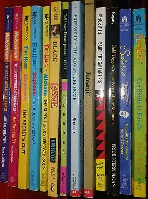Lot of 13 YA 90s TV/movie tie in books, Full House Jumanji Sabrina Alex Mack +