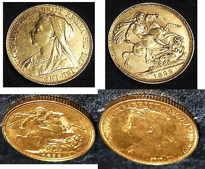 1899 Queen Victoria Gold Sovereign ,minted In Australia High Grade.gold Verified