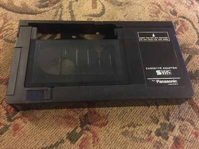 Panasonic VHS-C to VHS Converter Adapter Video Cassette Tape * TESTED *