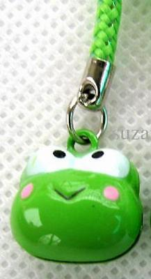 Keroppi Green Frog Heaed Bell inside Strap Charm For Bag Coin Purse Hanging Gift