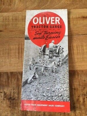 Oliver Tractor Gangs Brochure Cultivator