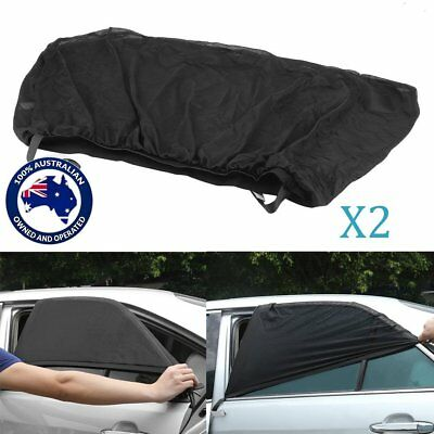 2pcs Sun Shades Sock Rear Side Curtain Car Window Sox Baby Kid Protection AUS RO