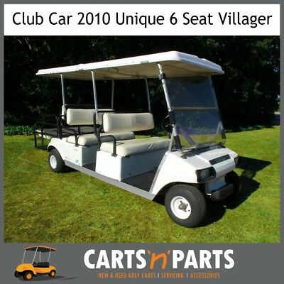 Club Car 6 Seat 2010 Golf Cart Buggy with fold out rear seat to a TRAY Trojan 20