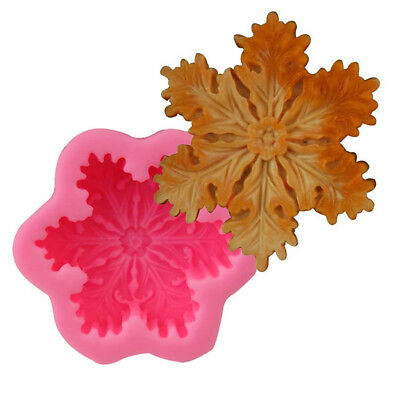 Christmas Snowflake Silicone Soap DIY Mold Handmade Candle Soap Mold 3D Mould