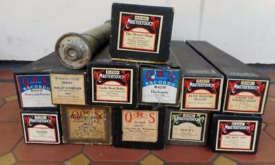 c.1960's Various Antique Pianola Musical Rolls Mastertouch/Perfection/QRS