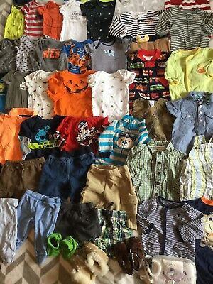 Huge Lot Of Baby Boy Clothes 0-3 Months 48 Pieces