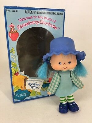 Vintage 1980s Strawberry Shortcake - Blueberry Muffin - Flat Hands