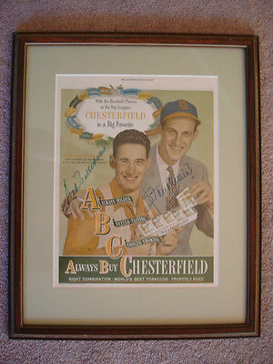 """Ted Williams & Stan Musial Psa/dna Autographed  """"saturday Evening Post"""" Insert"""