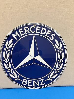 Mercedes Vintage Logo Reproduction Garage Sign