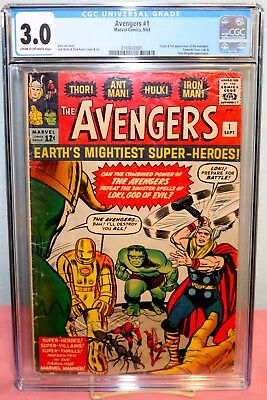 The Avengers #1 (Sep 1963, Marvel) CGC 3.0, Free Priority Shipping, No Reserve