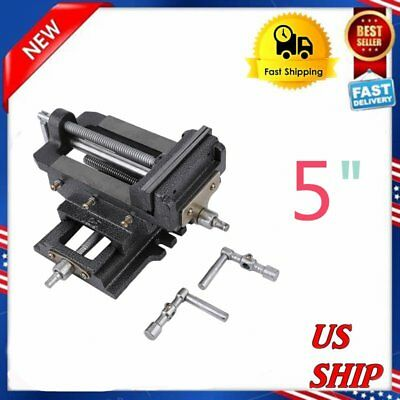 Cross Slide Vise 5 inch Wide Drill Press X - Y Clamp Milling Heavy Duty 2 Way VP