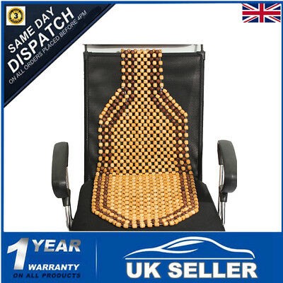 Car Taxi Van Bead Beaded Seat Cover Interior Wooden Classic Cushion Massage