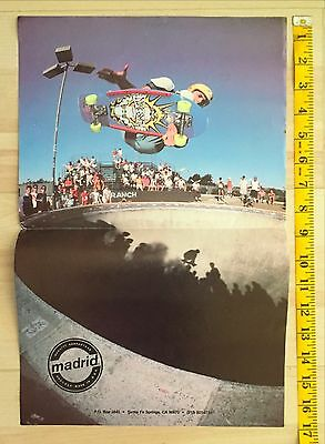 Mike Smith Madrid Duck Skateboard Poster Del Mar Nsa 80's