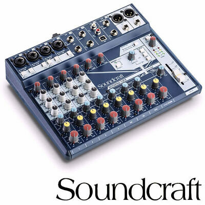 Soundcraft Notepad 12fx Mixer 12 Channel Mixing Desk with FX, USB and XLR Out Co