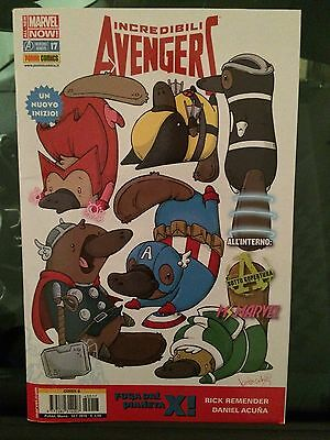 Incredibili Avengers 17 Variant Cover B animal by Katie Cook All-New Marvel Now!