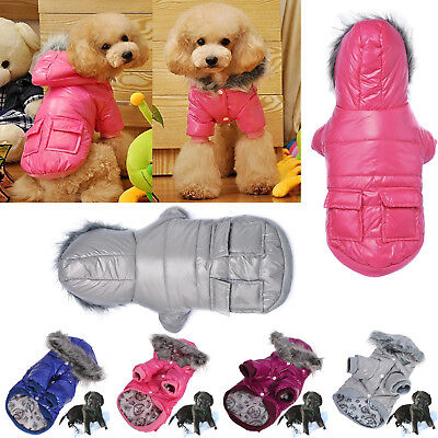 Clothes For Pets Cat Waterproof Hoodie Coat Apparel Winter Flannel Dog Warm