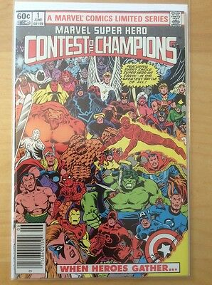 Contest Of Champions, High Grade - See Pics, 1982, Newstand Variant
