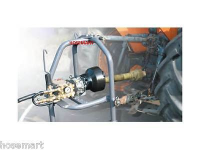 PTO RUN PRESSURE WASHER COMPLETE UNIT, HOSE, GUN. 3 Pt 4000PSI  CW PTO SHAFT