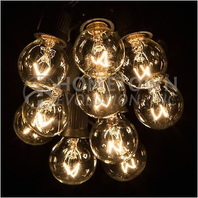 New 100 Foot Outdoor Globe Patio String Lights - Set of 100 G30 Clear Bulbs J32