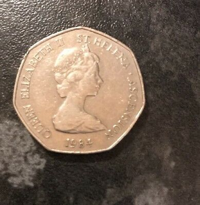 50 Pence Coin St Helena 1984