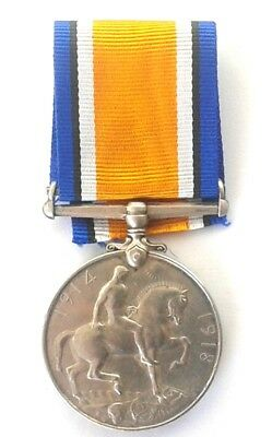 British Army WW1 Service Medal Issued to Pte H Stahmer  3rd S.A.M #KCS