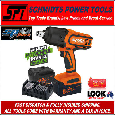 """SP TOOLS SP81130 18V 1/2"""" DRIVE CORDLESS IMPACT WRENCH KIT 2x 5.0Ah BATTERIES"""