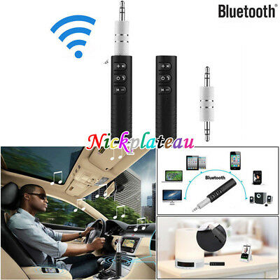 Phone To 3.5mm AUX Car Stereo Audio Music Receiver Adapter Wireless Bluetooth