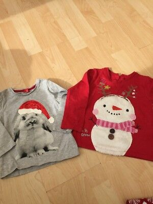 Next Baby Girl Christmas Tops Size 12-18 Months