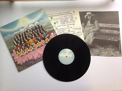 "Beatles George Harrison ""dark Horse"" Lp With Lyric Inner And Poster Us Pressing"