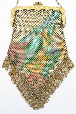 Whiting & Davis Vintage Mesh Clutch Paul Poiret Pouch Metal Mesh Purse