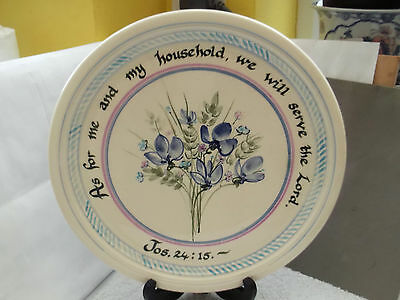 Large Charger  / Tray / Plate  Religious Quotation And Floral No Makers Mark