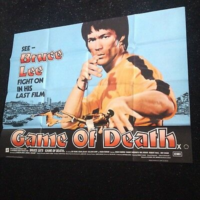 Rare Bruce Lee Uk Quad Poster