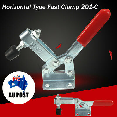 2Pcs 182kg Quick Release Hand Operated Tool Horizontal Fast Toggle Clamp 201-C