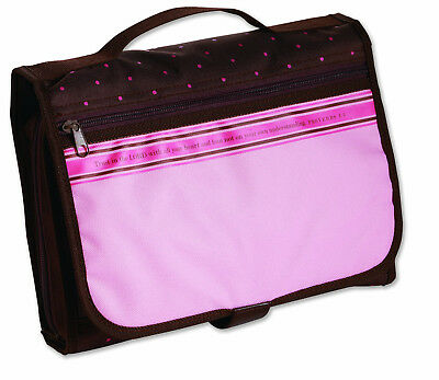 Tri-Fold Designer Organizer Large Bible & Book Cover Pink/Chocolate by Zondervan