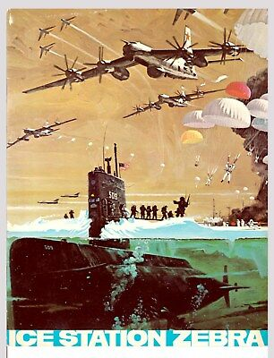 Ice Station Zebra Rock Hudson Movie Programme 1968 Film Cinerama Submarines