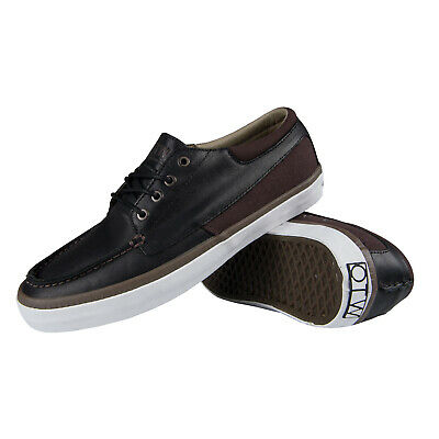 9da3b1d1cd Vans OTW Cobern Men s Trainers Shoes Snakers Full Grain Leather Black Boat