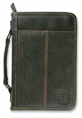 Aviator Leather Look Brown Extra Large Bible Cover by Zondervan Brand New