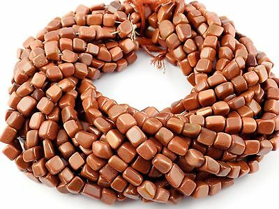 """2 Strands Synthetic Brown Sunstone Chewing Gum 6x7-9x14mm 13"""" Long Smooth Beads"""