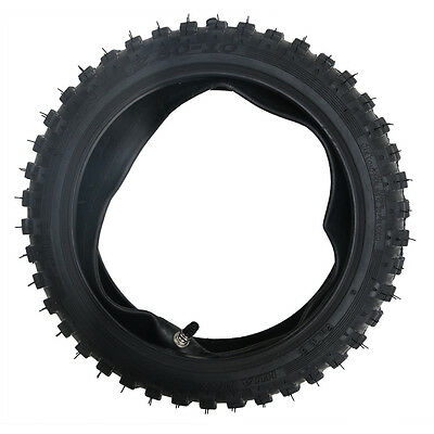 """2.50-10"""" Inch Front Knobby Tyre Tire&Tube PIT PRO Trail Dirt PW50 Bike Scooter"""