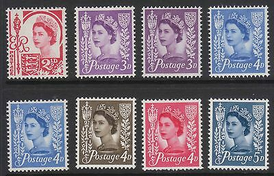 Selection of 8 QEII Jersey Pre Dec stamps MNH