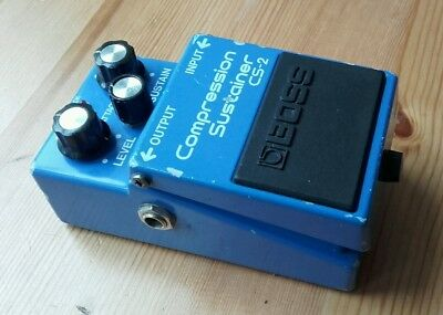Boss CS2 Japan 1988 Compression / Sustainer guitar effects pedal Vintage MIJ