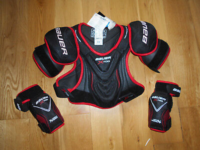Bauer X700 Vapor Hockey Shoulder Pad + L/r Elbow Pads .. Junior M .. Never Used
