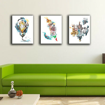 Abstract Color City Stretched Canvas Prints Framed Wall Art Home Decor Painting